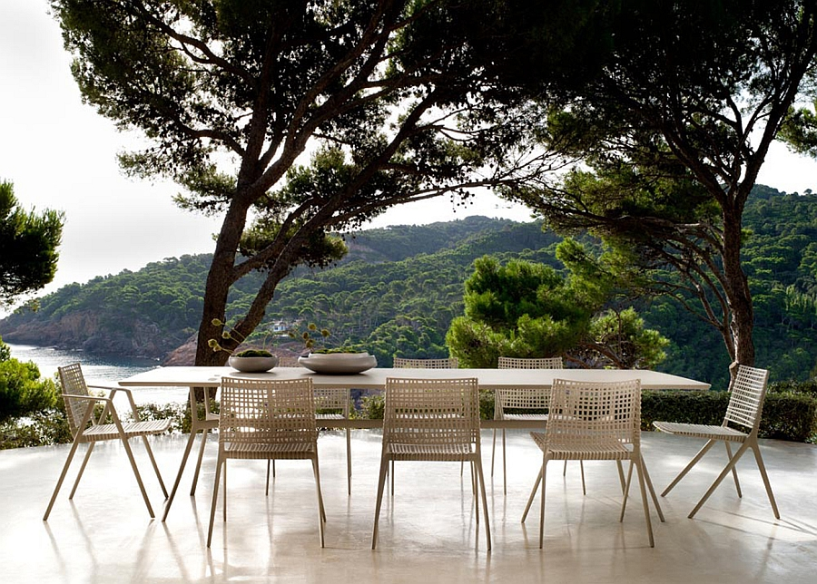Beautiful outdoor decor by Tribu inspired by nature