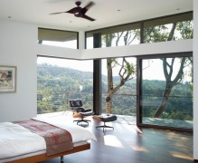 Bedroom with a view of the hills