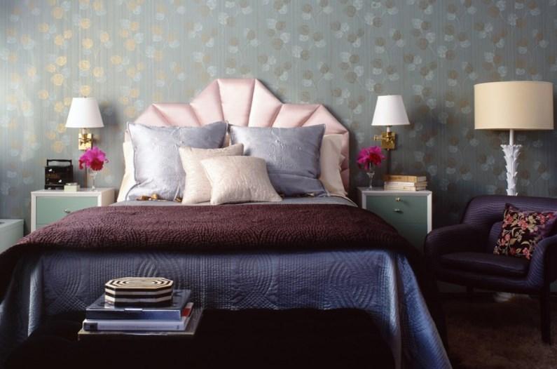 View In Gallery Bedroom With Purple Tones Designed By Rafael De Cardenas
