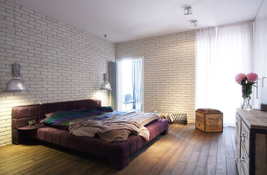 ... Bedside Lighting Steals The Show In This Bedroom [Delve Into This  Warsaw Apartment]