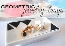 DIY: Black and White Geometric Jewelry Trays