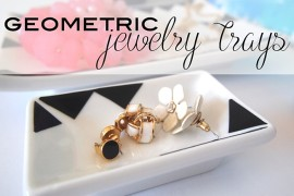 DIY: Black and White Geometric Jewelry Trays