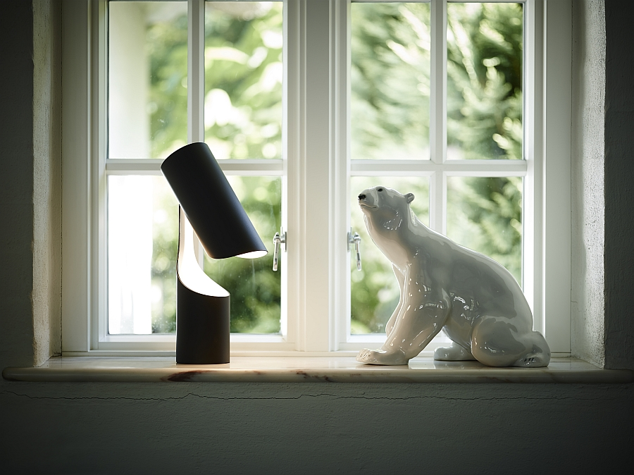 Black and white minimal table lamp for the contemporary home from Le Klint