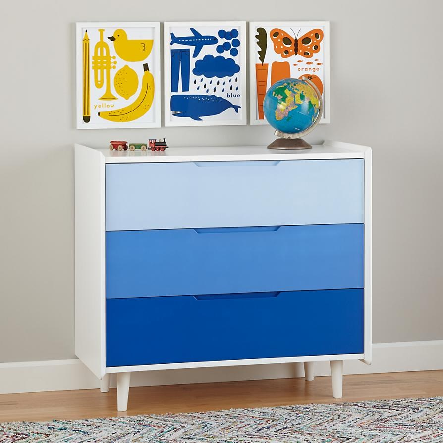 Blue ombre dresser The Latest In Kids Furniture, Textiles and Decor