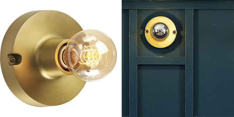 Brass bulb lighting from CB2