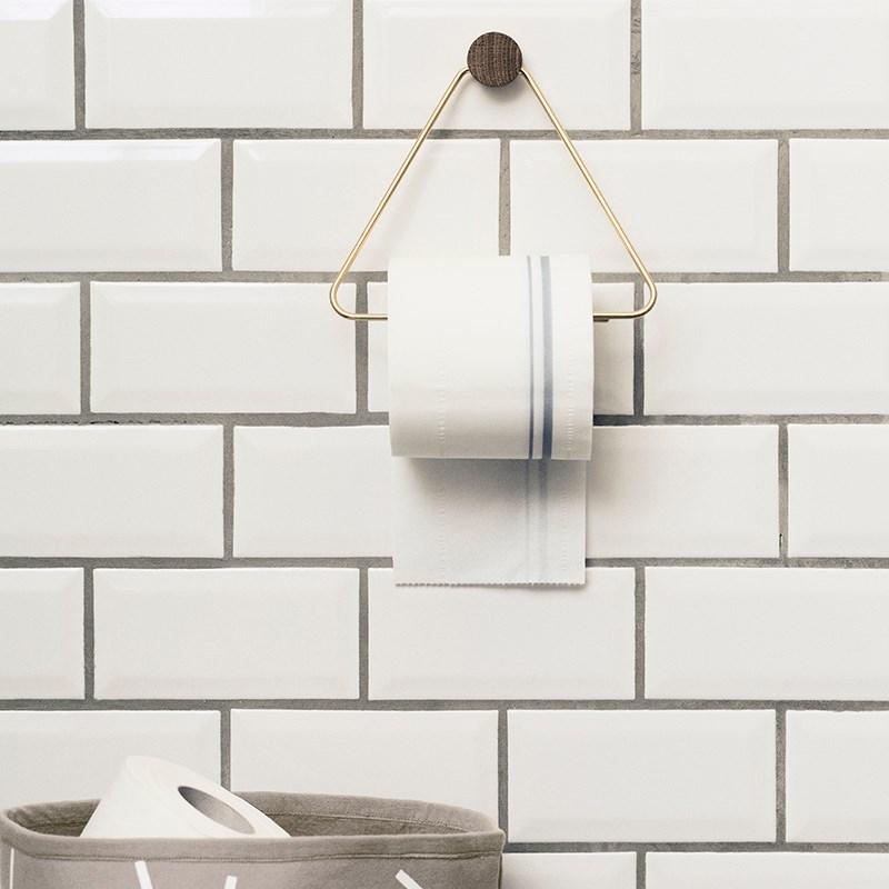 Brass toilet paper holder from Ferm Living