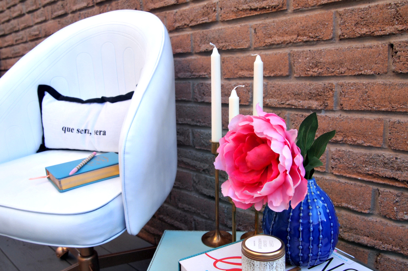 Chic white DIY painted leather chair