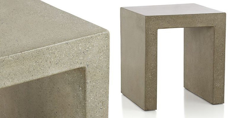 Concrete side table from Crate Barrel New Fall Decor Finds Highlight The Latest Trends