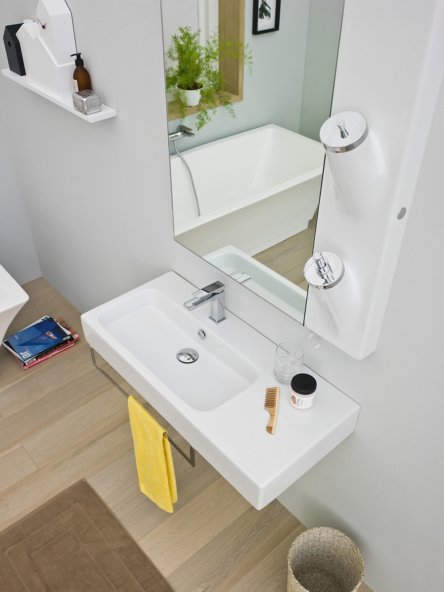 Contemporary bathroom decor and accessories that save up on space