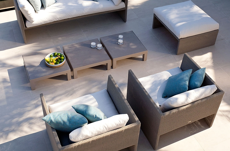 Cool Terra armchairs complement the sofa elegantly