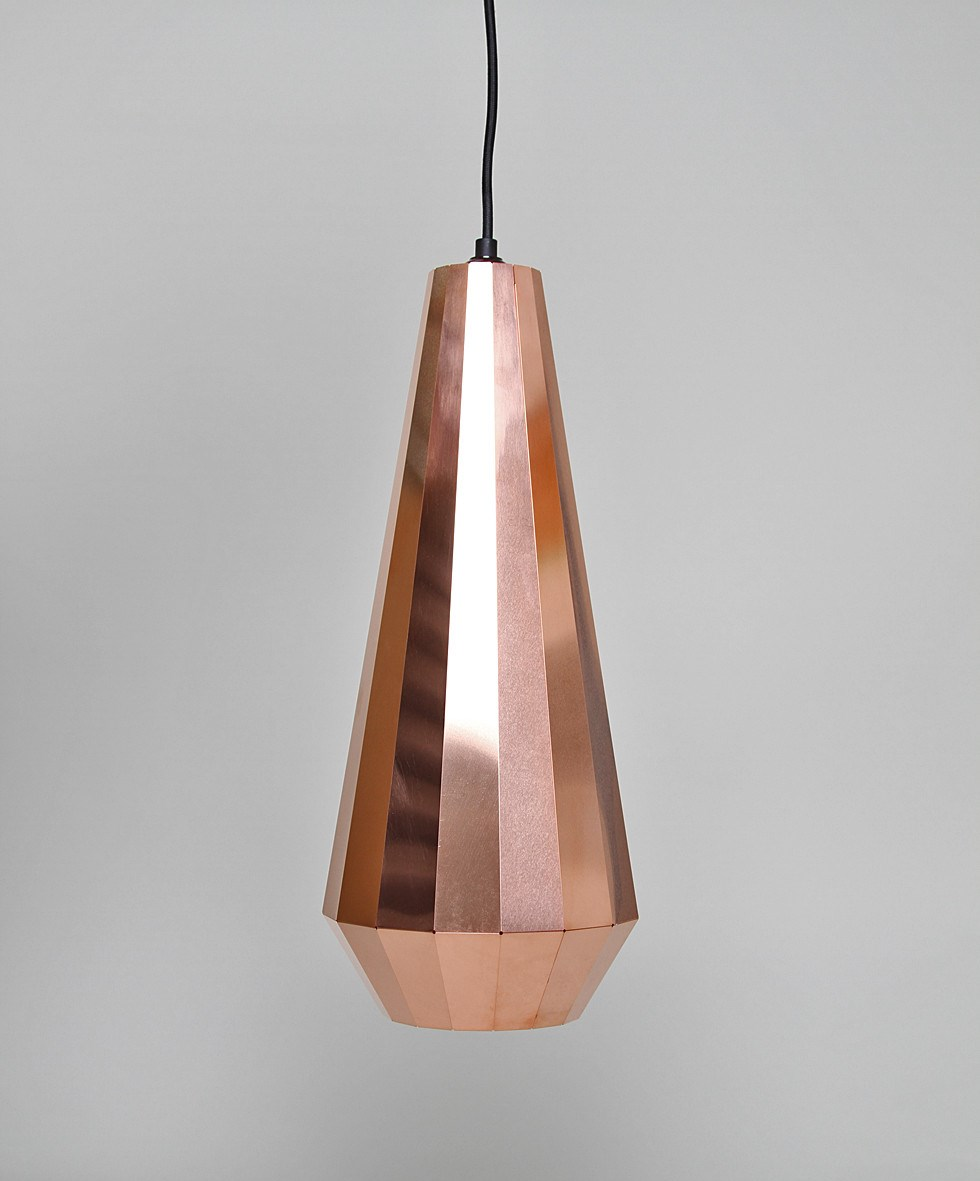 Copper geo light