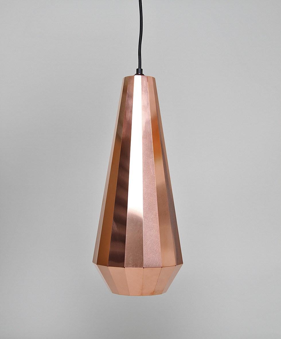 Copper geo light