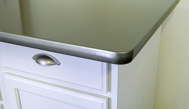Counter makeover with Thomas Liquid Stainless Steel Transform Your Furniture And Appliances With Stainless Steel Paint
