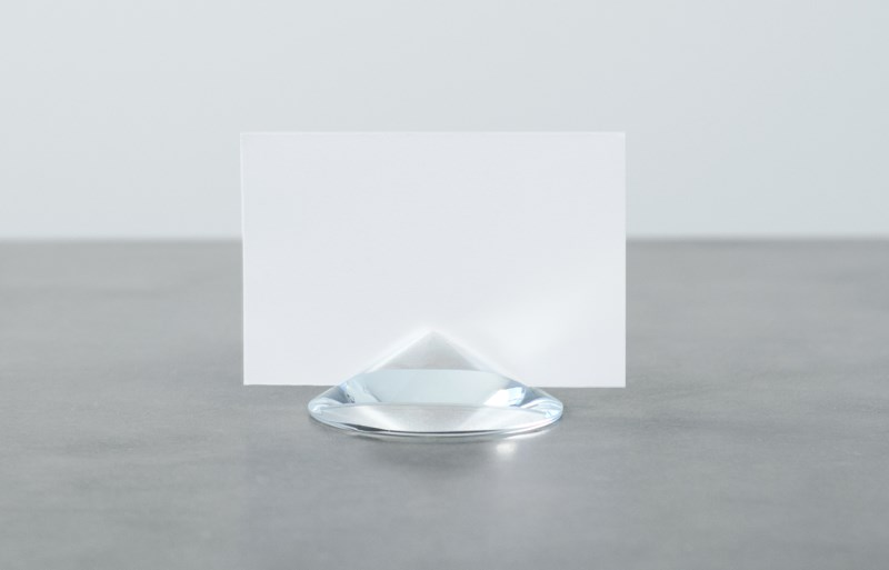 Crystal place card holders from Finell