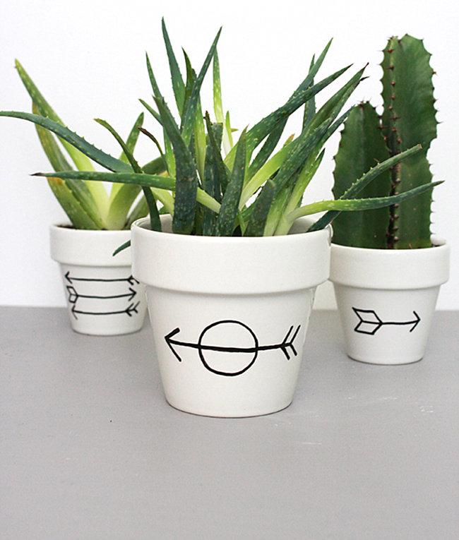 DIY Arrow Planter