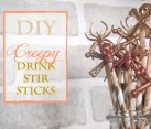 DIY Creepy Halloween Drink Stir Sticks Idea