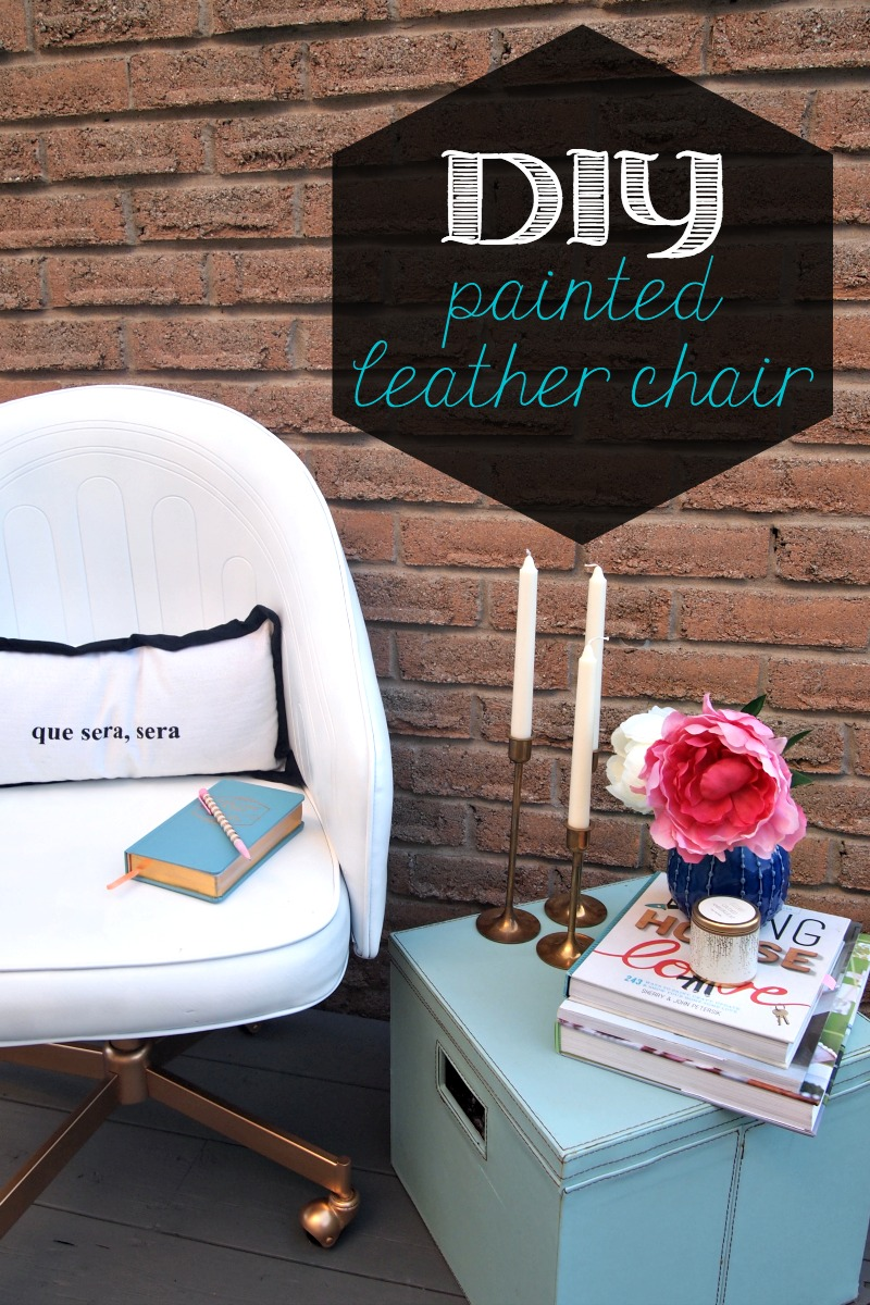 DIY Painted Leather Office Chair