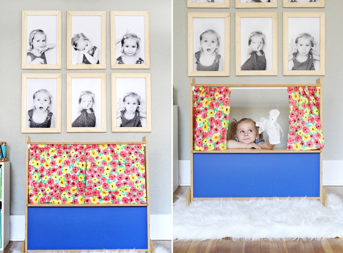 DIY frame gallery wall