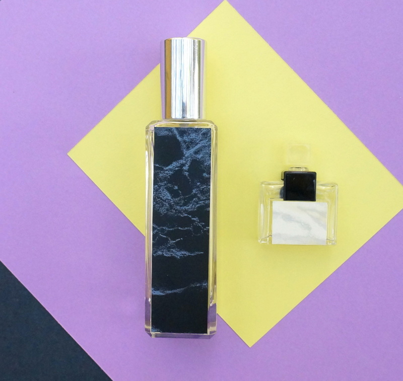 DIY marble perfume bottle project
