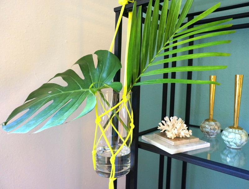 DIY neon hanging vase