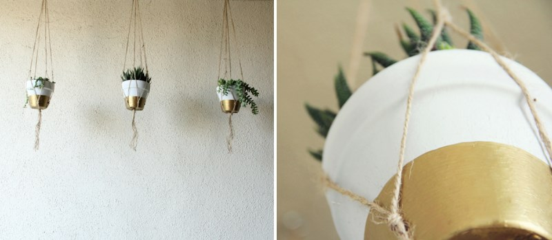 DIY painted hanging planters