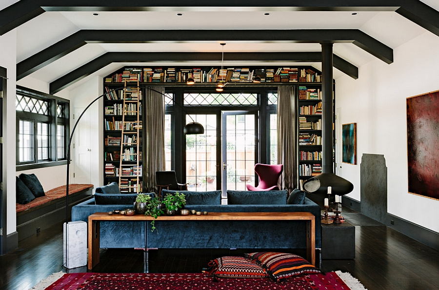 Dark jewel tones enliven the innovative home [Design: The Works]