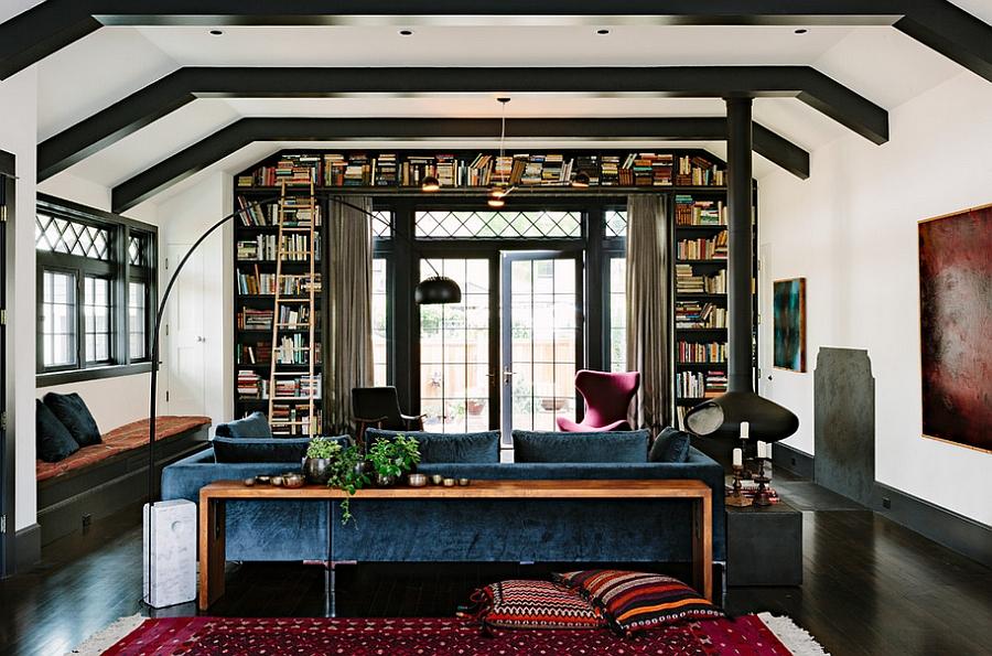 Dark jewel tones enliven the innovative home