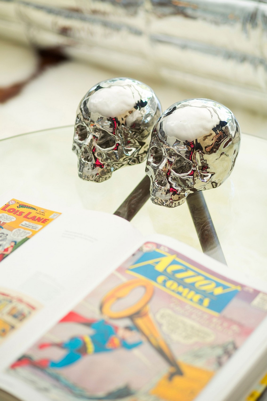 Decorative skulls - Metallic additions with a twist
