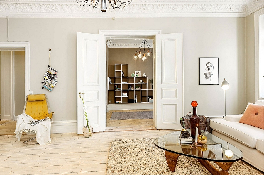 Elegant and relaxed ambiance of the lovely apartment in Sweden