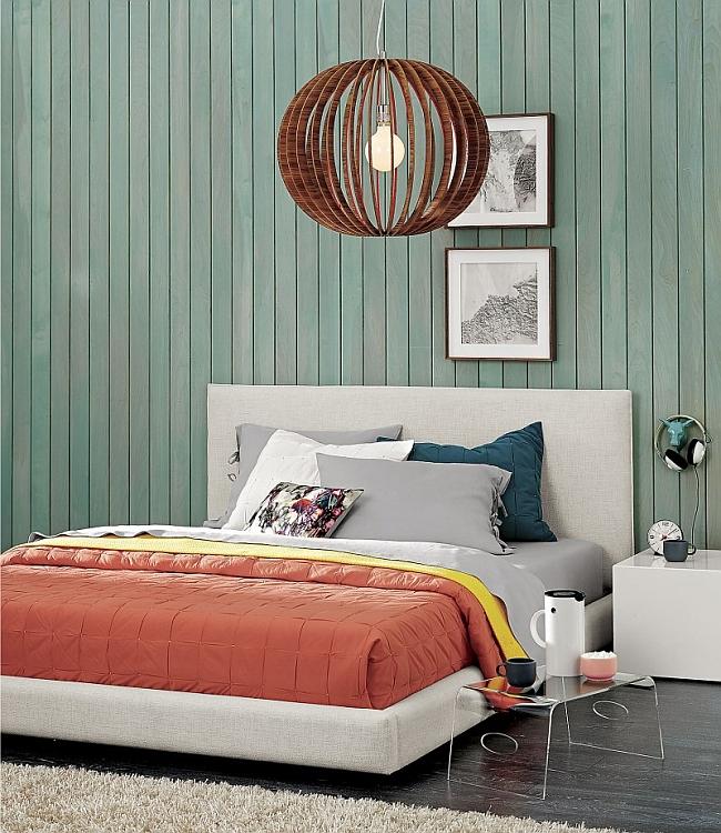 Elegant bedroom with trendy modern decor