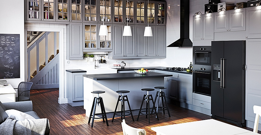 Elegant modern kitchen from the Ikea Catalog