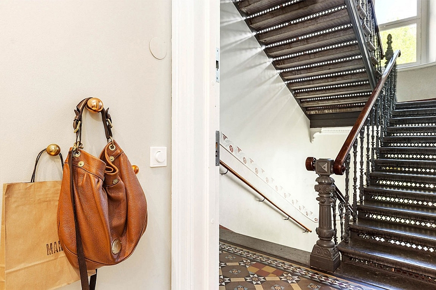 Entance to the elegant modern apartment in Vasastan, Sweden