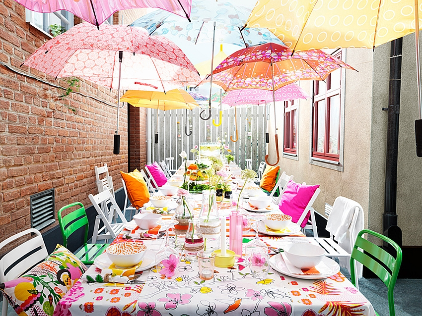 Fabulous outdoor dining space from the Ikea Catalog
