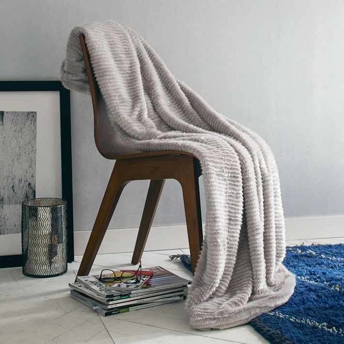Faux fur throw from West Elm