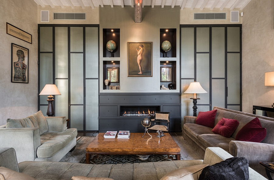 Fireplace becomes the focal point of this Tuscany Residence [By: KB Walsh Design]