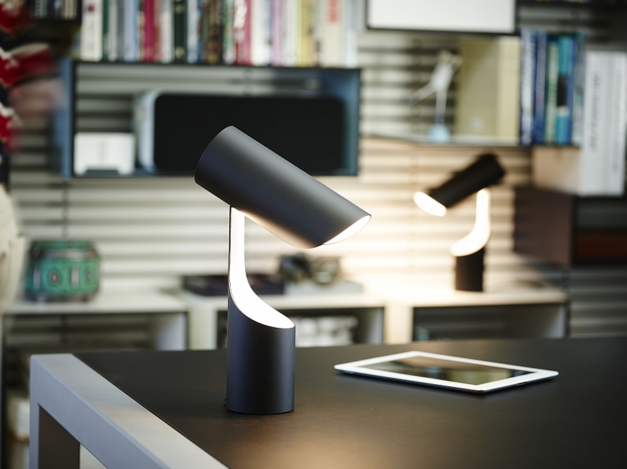 Flexible design of Mutatio allows you to control the intensity of light And The Best Designed Lamp Of The Year Goes To ... Mutatio By Le Klint!