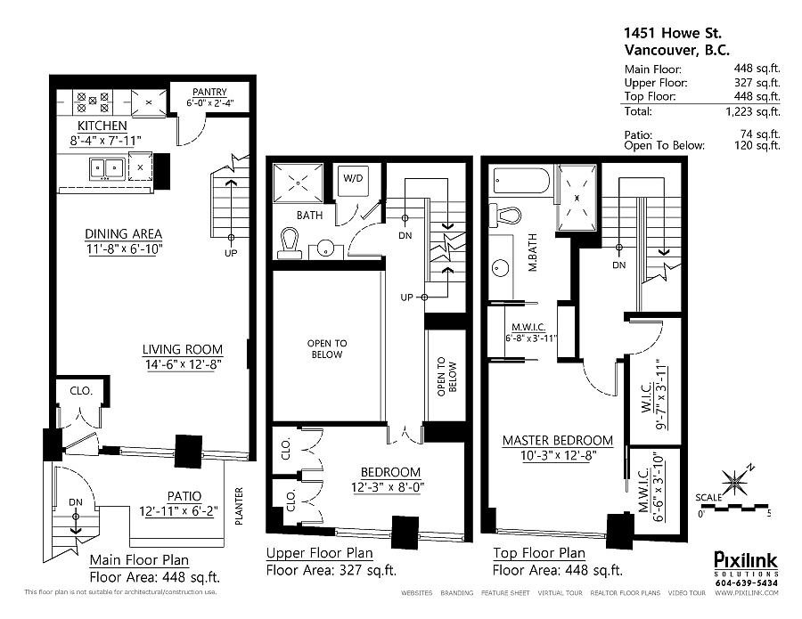 Floor plan of the modern townhouse with smart renovarions
