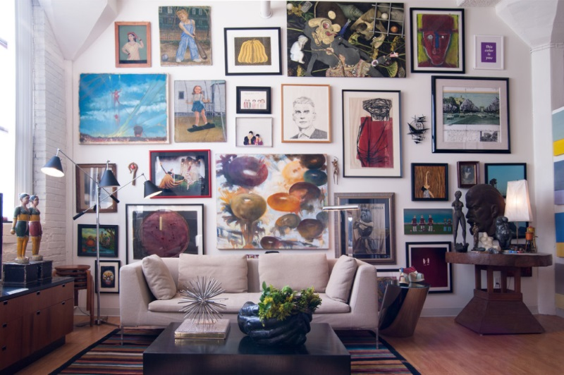 Create an eye catching gallery wall for Modern home decor big lots
