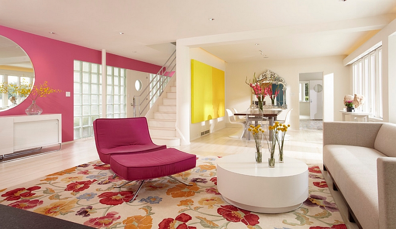 Floral patterns, bold colors balance the masculine and feminine [Design: Peterssen/Keller Architecture]