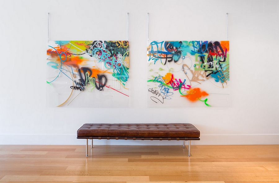 Framed art pieces bring in the graffiti charm [Josh Partee Photography]
