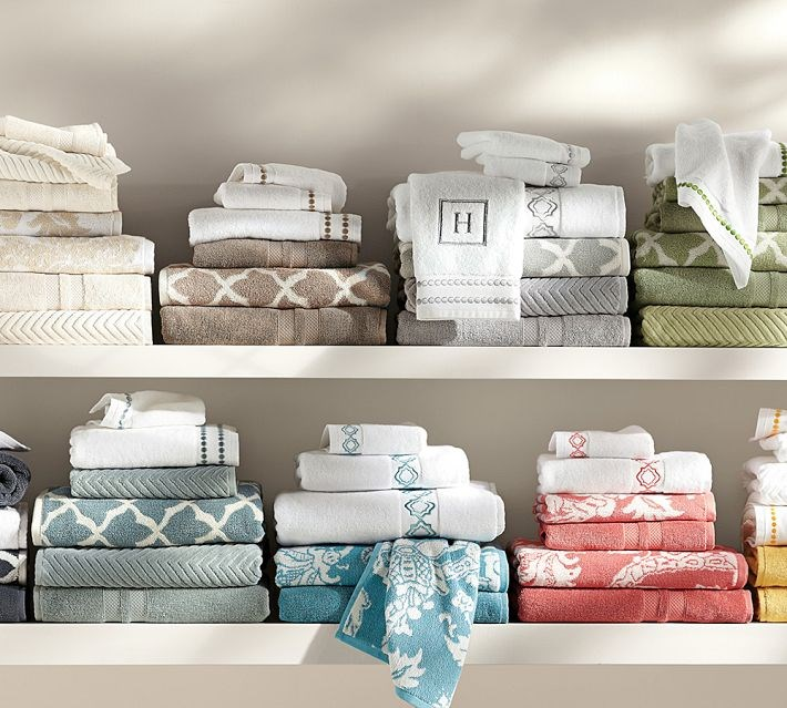 Fresh towels from Pottery Barn