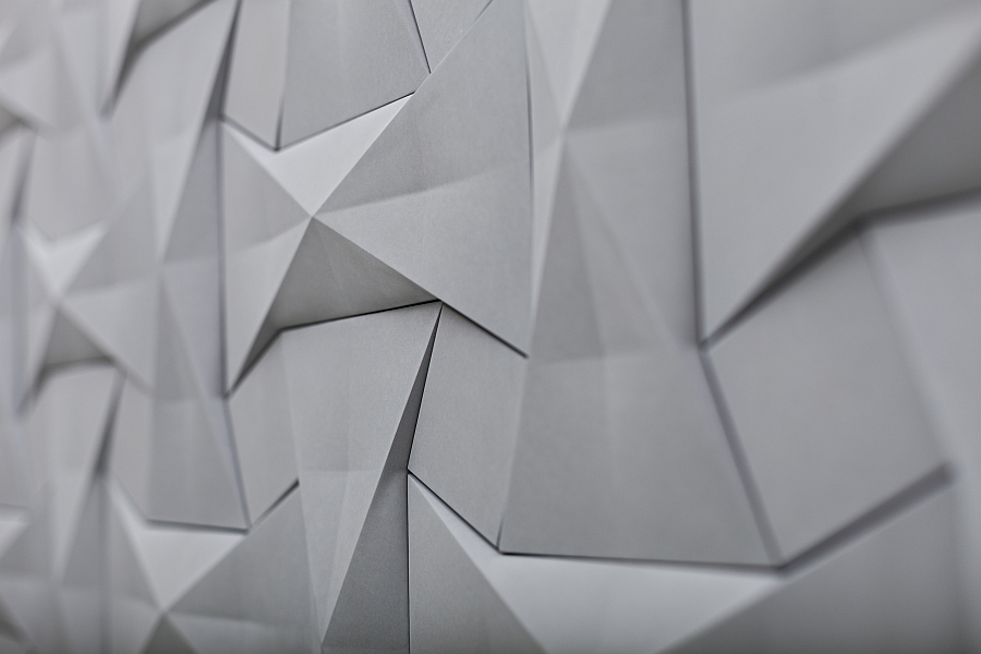Geometric concrete tiles inspired by ancient Origami patterns