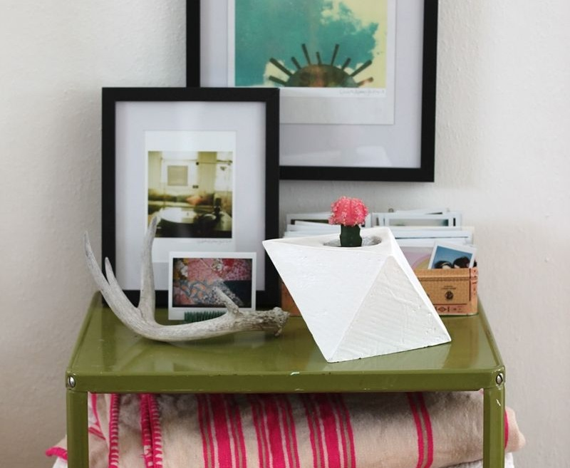 Geometric planter DIY from A Beautiful Mess