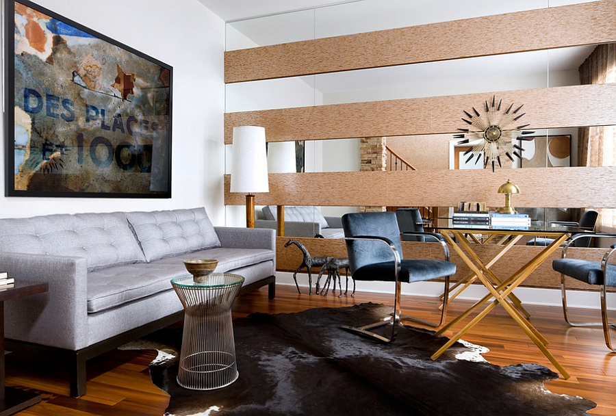 Give your masculine living room a midcentury modern touch