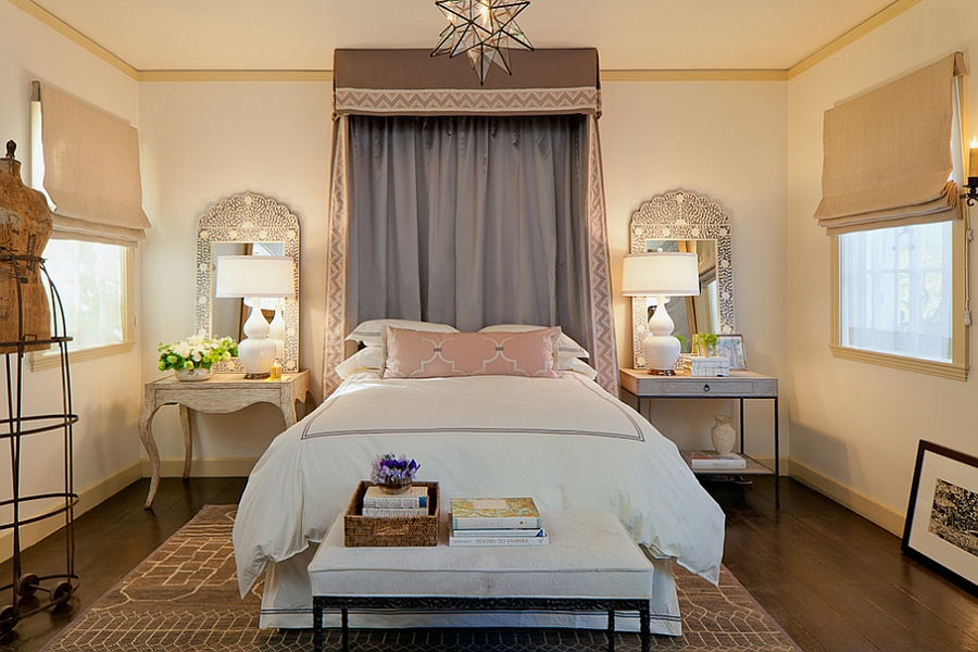 ... Giving your small bedroom a refreshing new look with Mediterranean style!  [Design: Laura