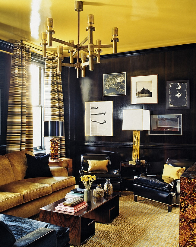 Gold adds a sense of luxury to the living room [Design: ABRAMS / Photography by Eric Piasecki]