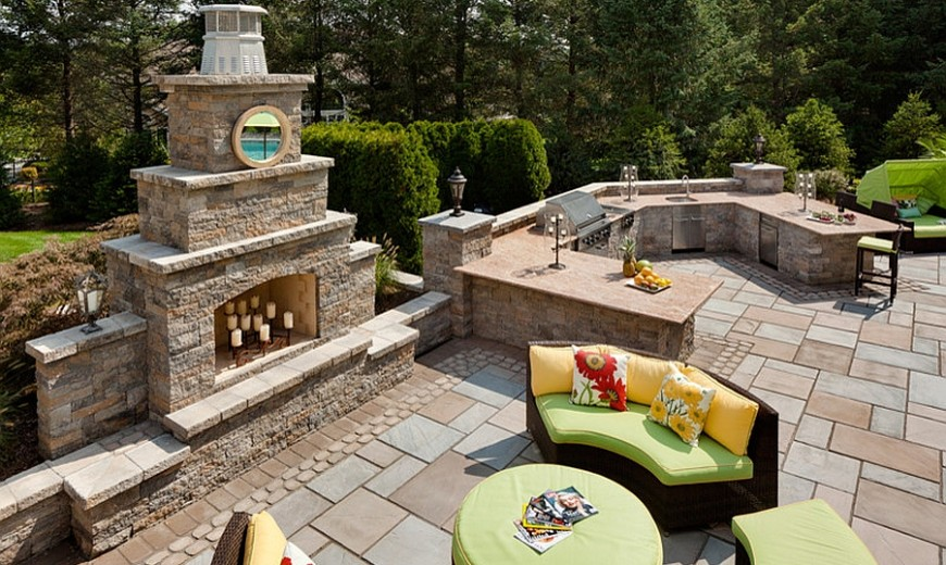 Kim Granatell's New Jersey Home Gets A Trendy New Backyard Escape
