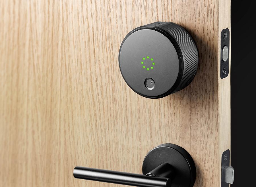 Gorgeous August Smart Lock in sleek Grey