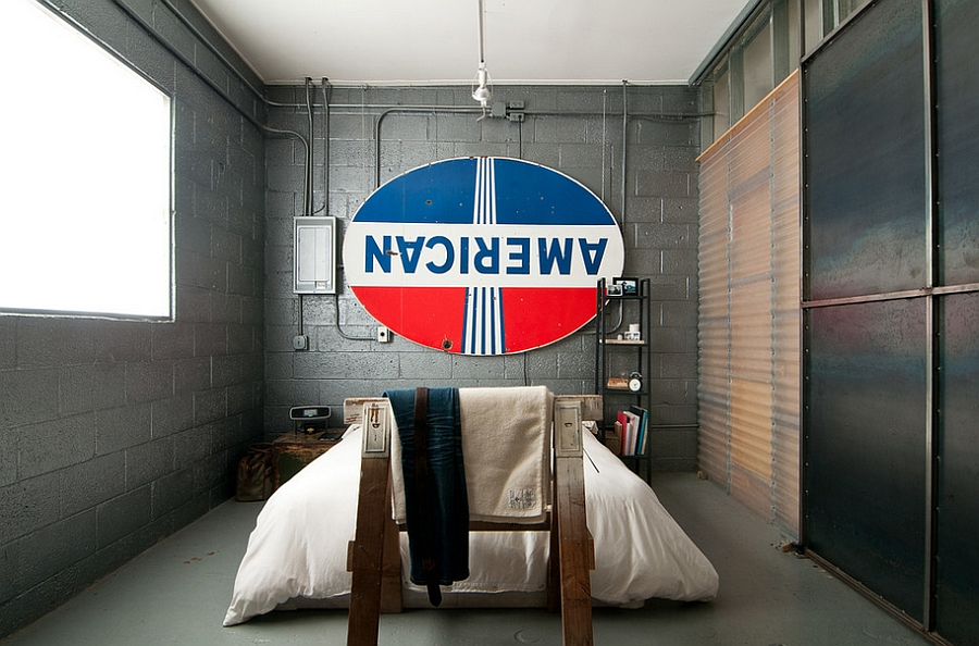 Industrial Wall Decor Ideas : Industrial bedroom ideas photos trendy inspirations