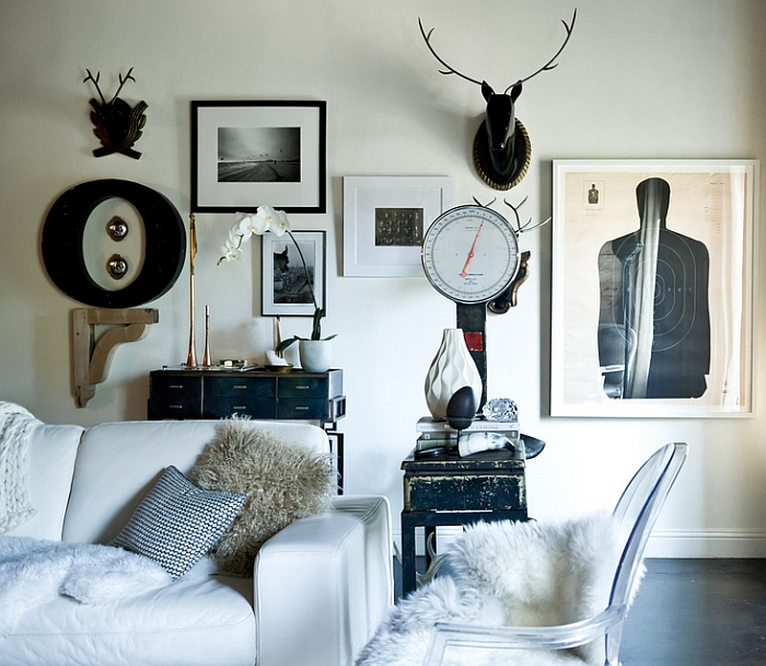 Grey, white and black living room with a Scandinavian touch [Design: Jamie Laubhan-Oliver]